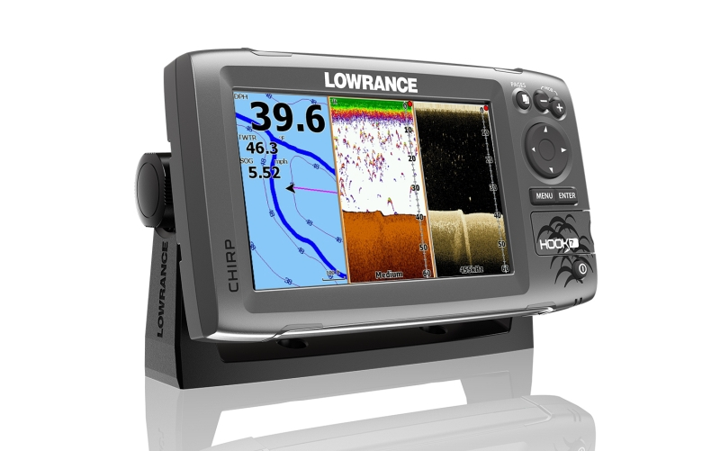 Sonar Hook-7 Chirp so sondou / Sonary, GPS a kamery / sonary s GPS