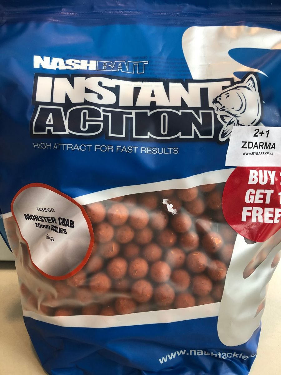 Boilies Instant Action Monster Crab 20mm 5kg