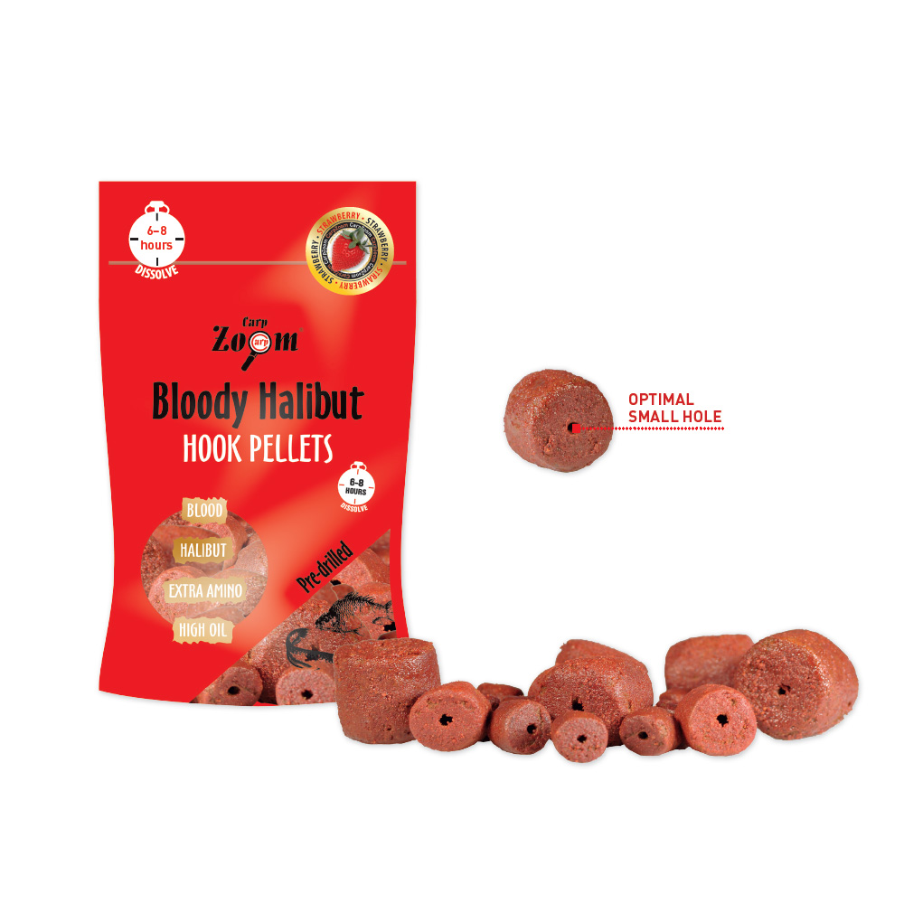 Strawberry halibut pellets / Boilies, pelety a dipy / pelety