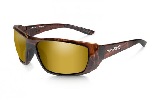 Okuliare KOBE Polarized Gold Mirror Amber/Gloss Hickory Brown