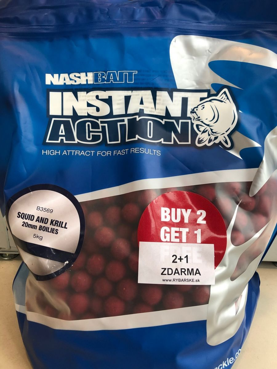 Boilies Instant Action Squid & Krill 20 mm 5 kg