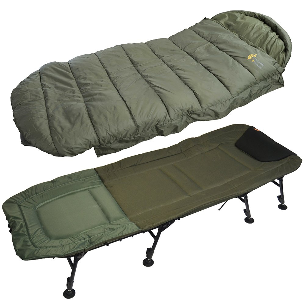 Lehátko Flat Bedchair 8Legs + spacák Cruzade Sleeping Bag
