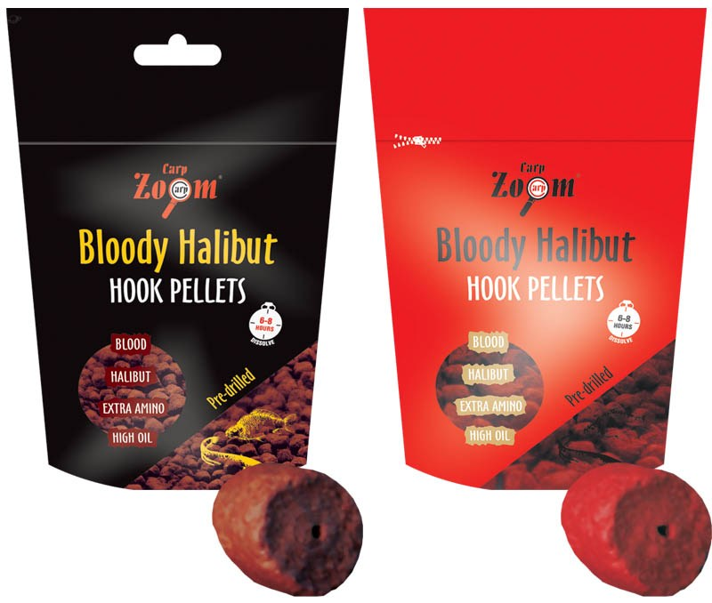 Bloody halibut pellets