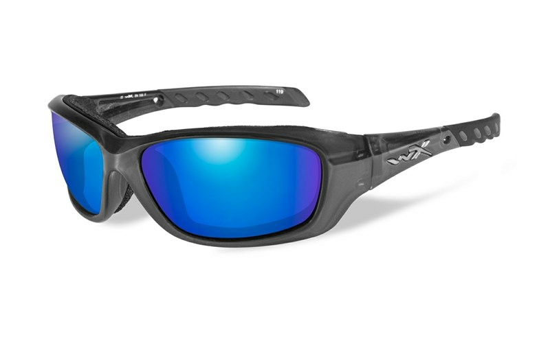 Okuliare GRAVITY Blue Mirror Black Crystal Frame