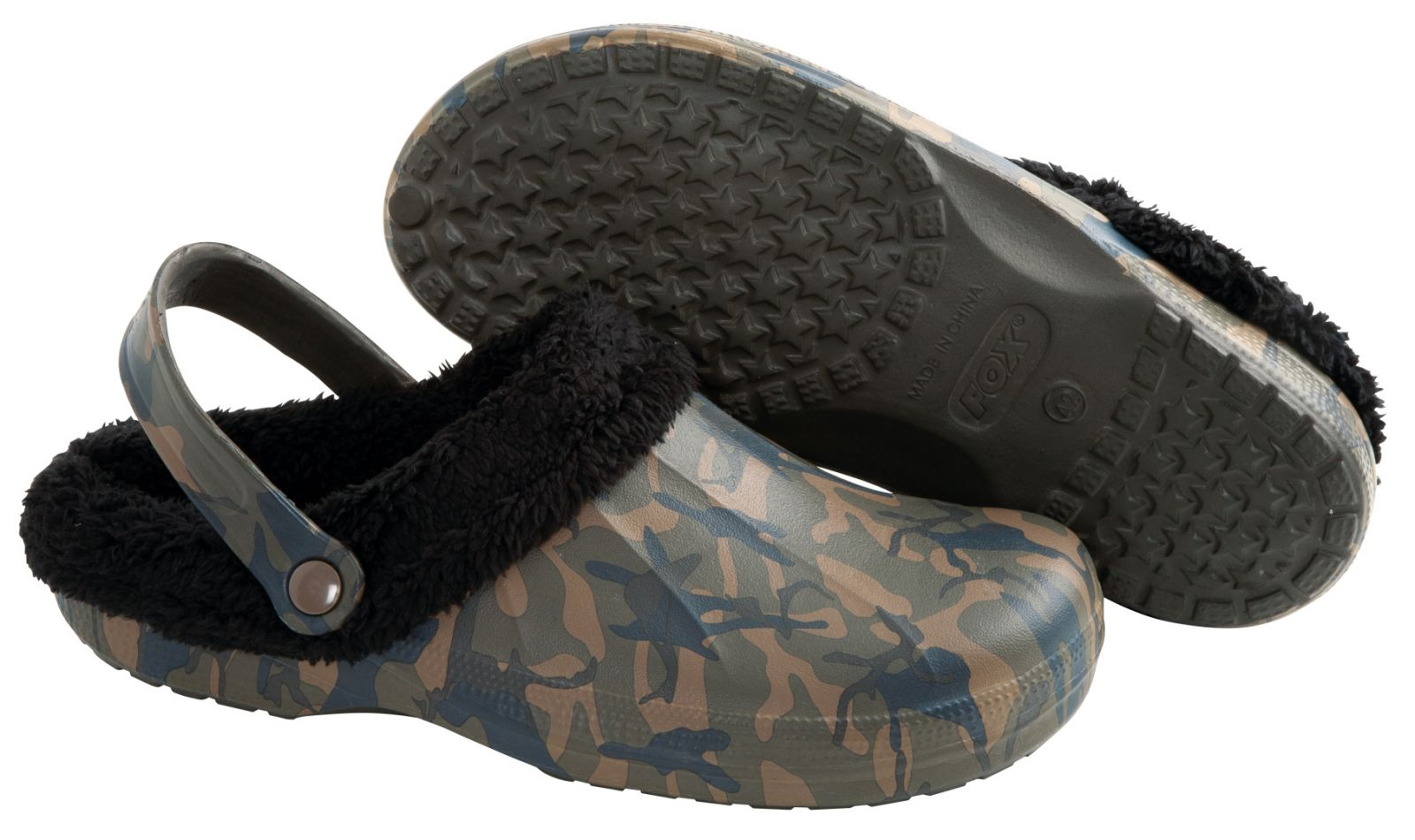 Šľapky Chunk Camo Fleece Clogs
