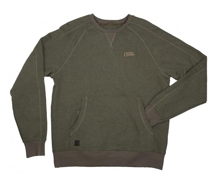 /produkty/52/bundy-a-mikiny/Fox/Mikina-CHUNK-Crew-Pouch-Sweatshirt-Green-Marl