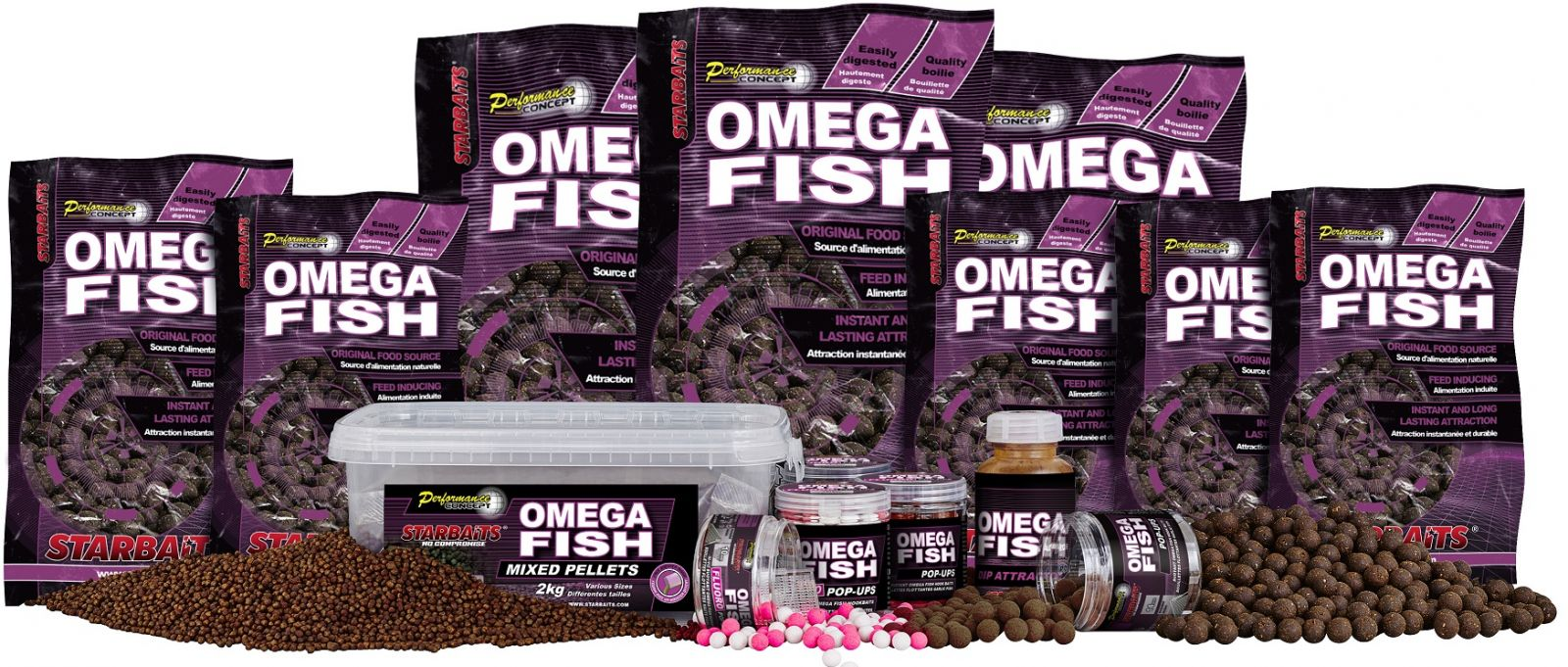 Boilies Omega Fish