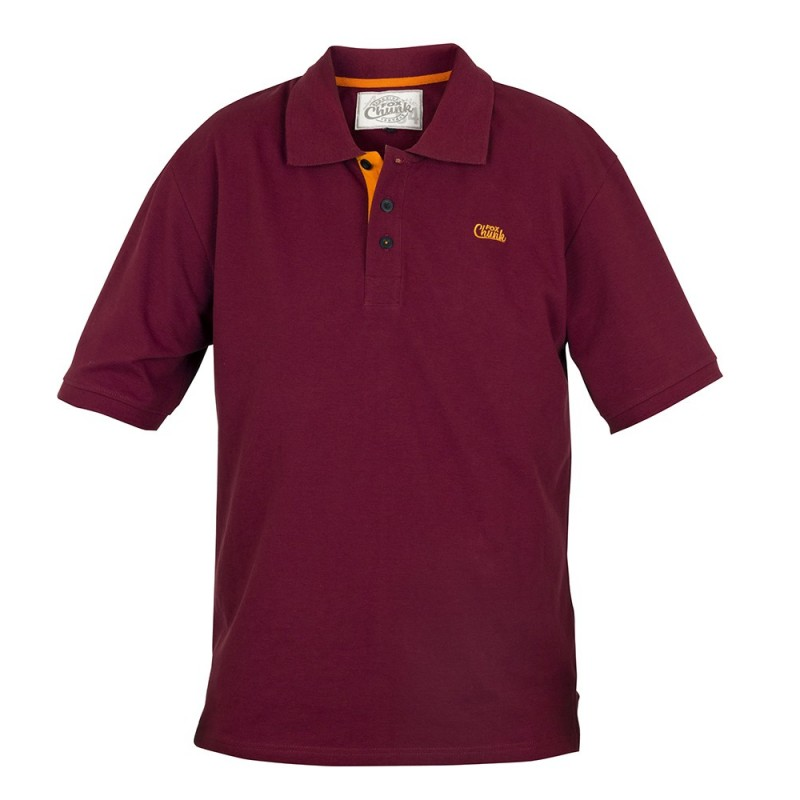 Tričko CHUNK™ Polo Shirt Burgundy/Orange